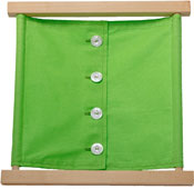 Montessori dressing frame with large buttons